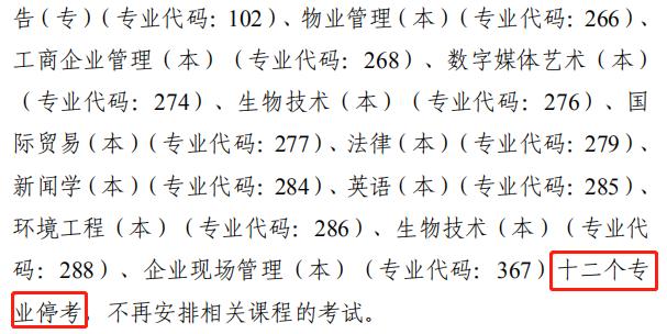 天津12个专业宣布停考